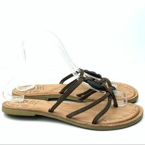 Earth spirit sandals sweetberry sz 9 brown strappy